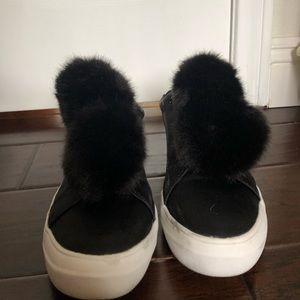 Mossimo Supply Co. Shoes - Black POM POM trendy shoes